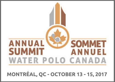 Sommet de Water Polo Canada 2017-2018